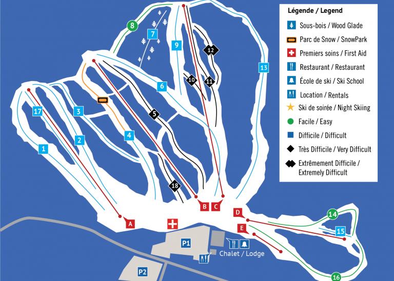 Centre de ski Vorlage